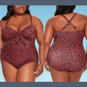 NEW Dreamsuit Tie-Front One Piece Swimsuit 24W